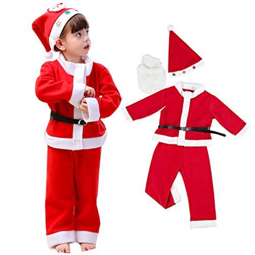 b301c508f4c37 Horara サンタ コスプレ ベビー キッズ クリスマス コスプレ衣装 子供 帽子上下セット(男の子 セット、100cm)