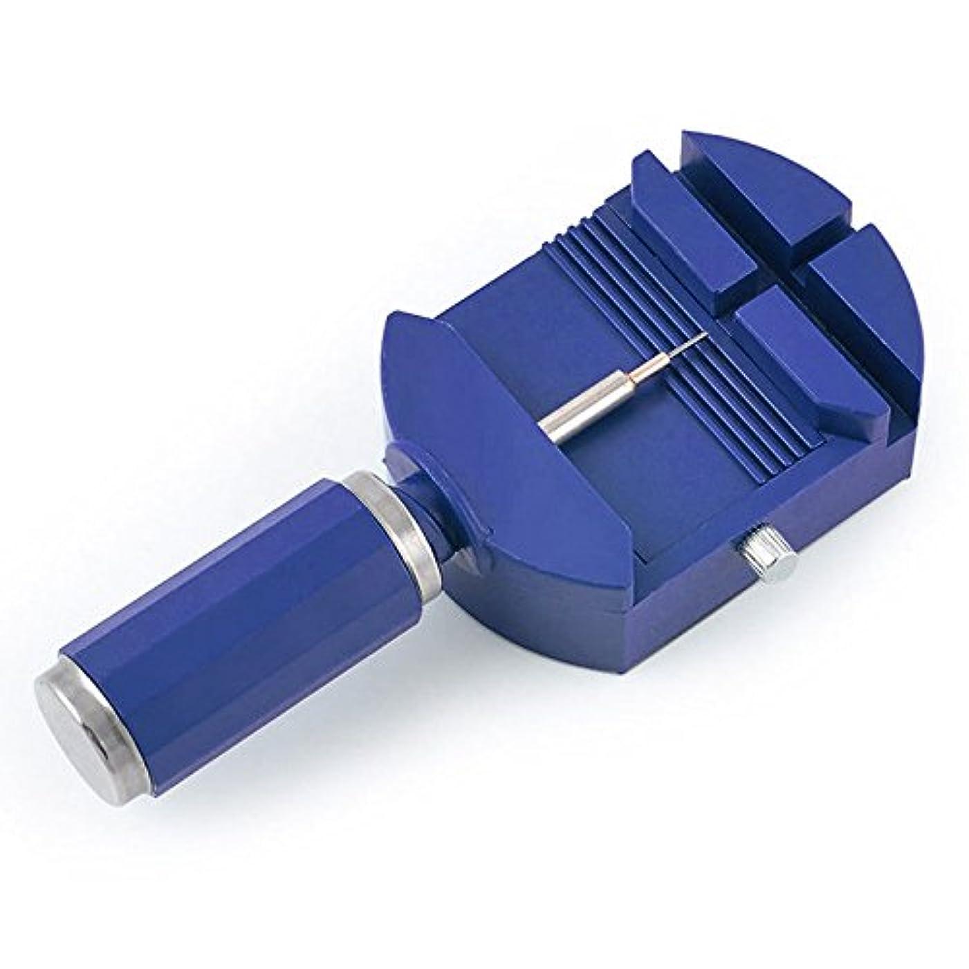 練習アンティークペデスタルLiebeye 腕時計修理ツール ベルト調節 ピンアジャスター ストラップ ブレスレット 修復ツール ブルー