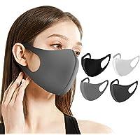 Naturali マスク 立体型 洗えるマスク 繰り返し使用可 男女兼用 花粉症 対策 予防 ウレタン 6枚セット ナチュラルアイ HOMARE株式会社 (ブラック3枚&グレー3枚)