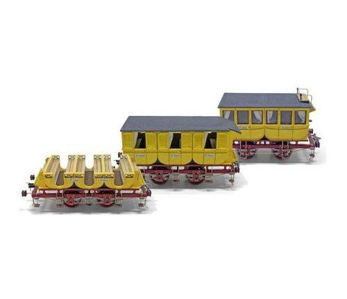 蒸気機関車アドラー号客車(木製模型キット)