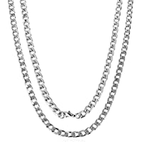 HZMAN Classic Mens Necklace 14k Real Gold Plated 316L Stainless Steel Chain Length18~30""