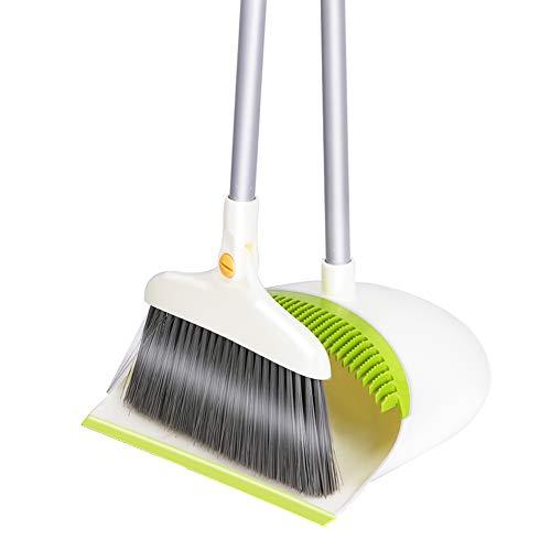 SENROKES ほうき ほうきちりとりセット,新型掃除セット ほうき 防風式ちりとりセット ホーム 美容室 ショップ 室内 掃除 清掃用品 人気チリトリ 持ち運びに便利ほうきほうきちりとりセットほうき・ちりとりほうき庭室内ほうき室内ほうきちりとりセット美容室ほうき