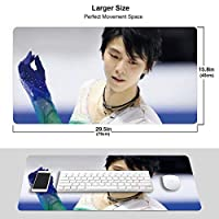 羽生結弦 マウスパッド 光学マウス対応 パソコン 周辺機器 超大型 防水 洗える 滑り止め 高級感 耐久性が良いOne Size