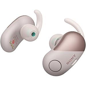 ソニー SONY 完全ワイヤレスノイズキャンセリングイヤホン WF-SP700N PM : Bluetooth対応 左右分離型 防滴仕様 2018年モデル ピンク