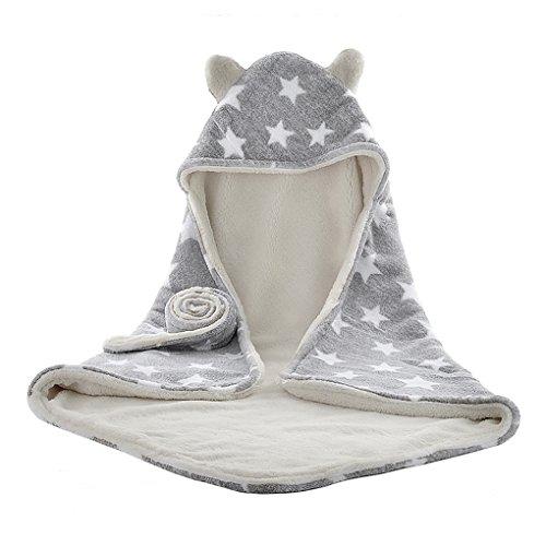 新生児おくるみ 赤ちゃん 巻き毛布 ブランケット ベビー フード付きタオル 湯上りバスタオル ふわふわ 柔ら...