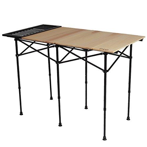 DOD(ディーオーディー) ソトデーチューボー キャンプキッチンをもっとおしゃれに快適に ウッド天板 ロール