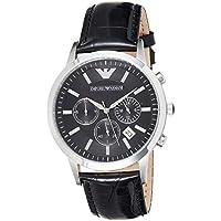 Emporio Armani Men's Classic Analog Analog-quartz Black Watch, (AR2447)