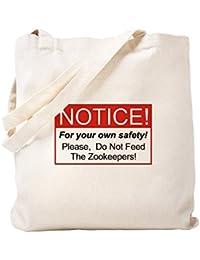 CafePress – Notice / Zookeepers – ナチュラルキャンバストートバッグ、布ショッピングバッグ S ベージュ 0608136699DECC2