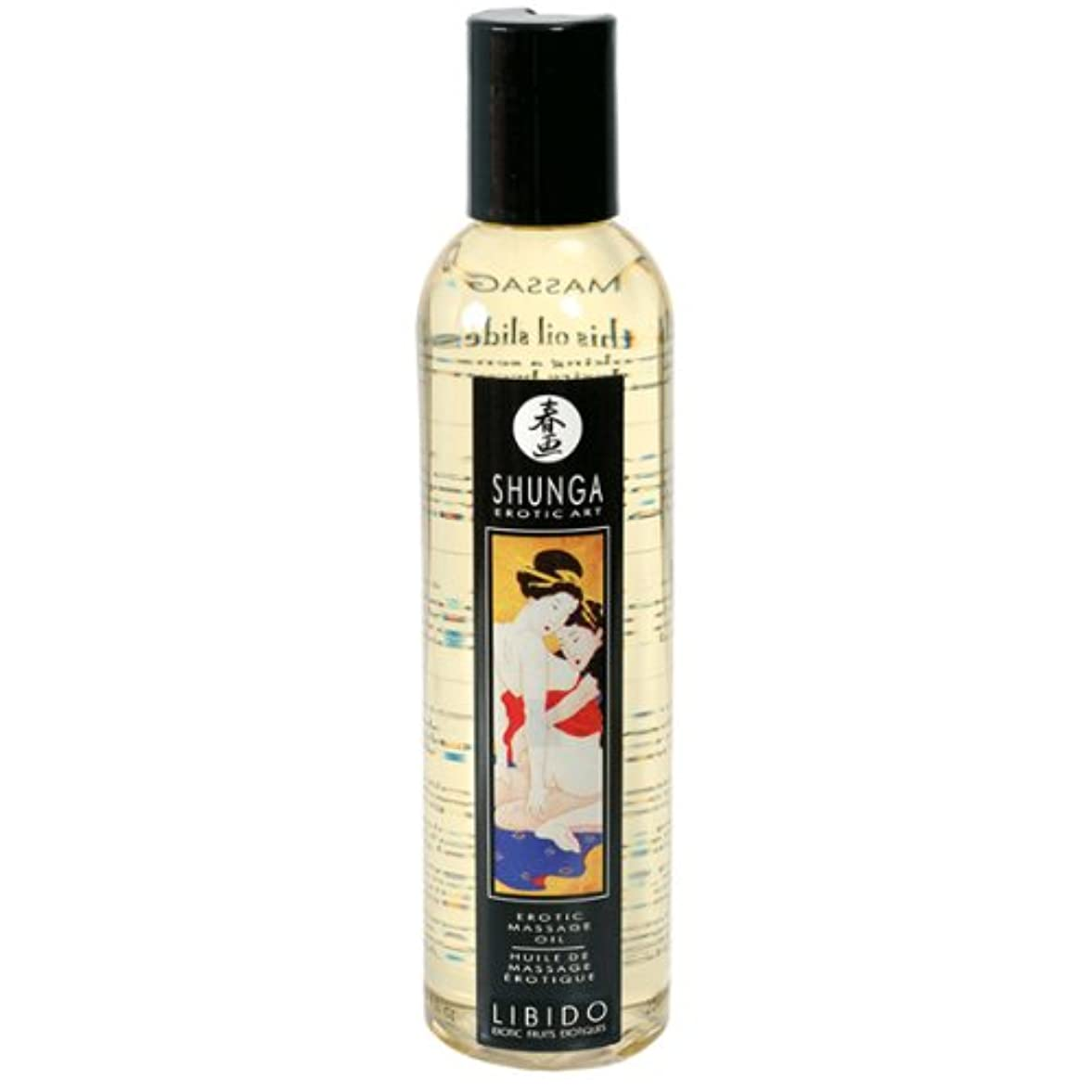 最初はアシスタント頭蓋骨Erotic Massage Oil - Libido (Exotic Fruits) by Shunga