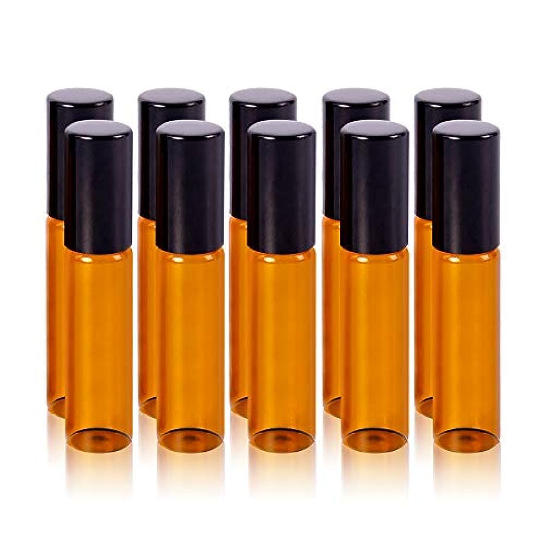 拒絶するクライアントスクラッチアロマオイル 精油 小分け用 遮光瓶 10本セット (5ml)