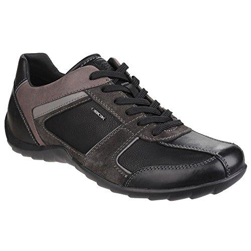 (ジェオックス) Geox メンズ パベル レースアップスニーカー 紳士靴 カジュアルシューズ 男性用 (9 UK) (ブラック)