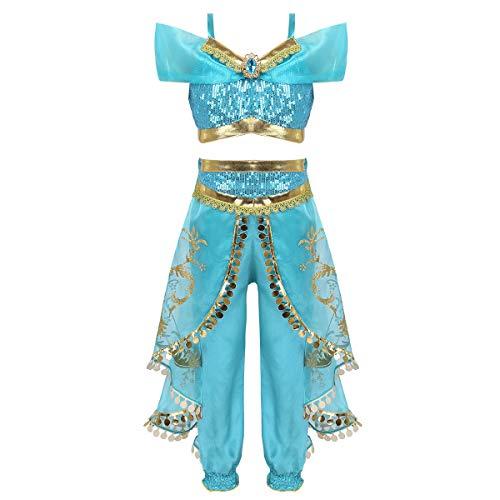f0c656729 (フィーショー) FEESHOW プリンセス なりきり アラビア風 お姫様 ハロウィン衣装 ジャスミン コスチューム 仮装 子供