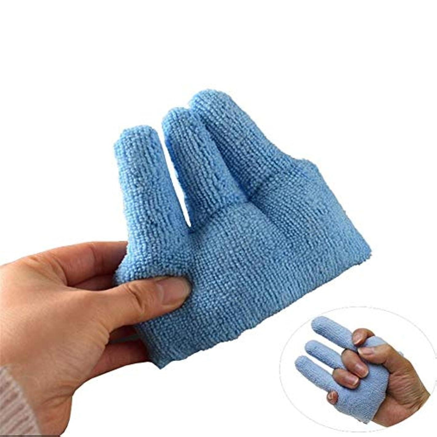 野ウサギ歩く遺伝的指拘縮の訓練装置は、ベッドの痛みのための指のきらめきくる病手の高齢者介護を防ぎます (Size : 1pairs)