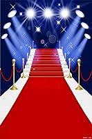 階段 レッドカーペットライト 幅6フィート x 高さ9フィート ビデオスタジオ背景 デジタルプリント シームレス 写真背景 RKAシリーズ 写真背景 RKA034
