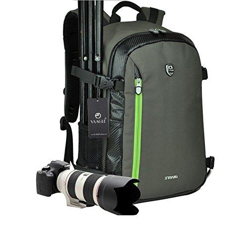 YAAGLE オックスフォ一ド 大容量 多機能 防水耐衝撃 DSLR専門性な一眼レフカメラバッグ トラバルリュックバッグ 多間仕切り 雨カバ-付き Canon Nikon Sony Nikon Olympus Samsungサイズ:45*30*19CM