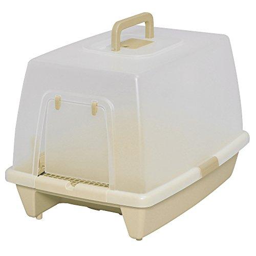 アイリスオーヤマ 砂落としマット付脱臭ネコトイレ SN-520 ミルキーブラウン