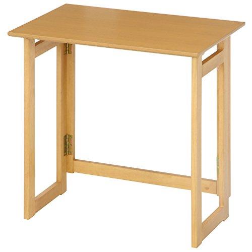 不二貿易 フォールディングテーブル ミラン 70×45cm ナチュラル 10880
