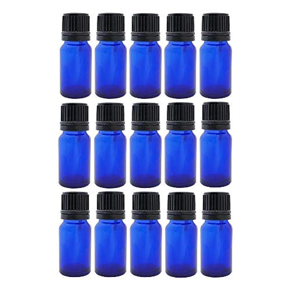医薬細心の不測の事態遮光ビン 10ml 瓶 15本セット ブルー(ドロッパー キャップ付)