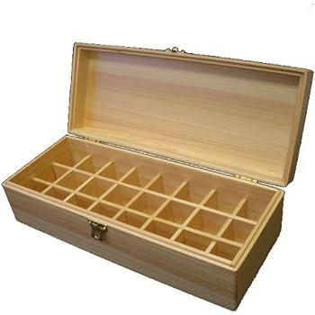 精油収納ケース 24本用 国産 総ヒノキ製 エッセンシャルオイル 収納ボックス