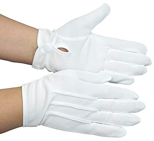 東レ社製 ナイロン生地 使用 礼装用 フォーマル 紳士 白 手袋 (S ~ 3L) ナイロン 100% 1双 または 3双セット から 選択可 (ホワイト, 3L寸(3双))