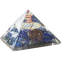 wave the stone オルゴナイト ピラミッド ラピスラズリxフラワーオブライフ ★大きいサイズ 約70x70mm 電磁波 防止 パワーストーン 浄化