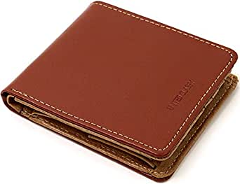 (マルカワジーンズパワージーンズバリュー) Marukawa JEANS POWER JEANS VALUE 財布 メンズ 二つ折り 革 牛革 ステッチ ボックス型小銭入れ 2color (Free, ブラウン×キャメル)