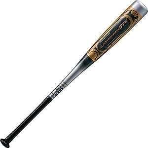 ゼット(ZETT) 少年野球 軟式 カーボン(FRP) 製バット ブラックキャノンST2 76cm シルバー(1300) BCT71876