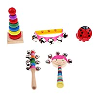 Fenteer 全3種類 楽器おもちゃ 赤ちゃんおもちゃ 木製 打楽器セット 知育玩具 - 5個