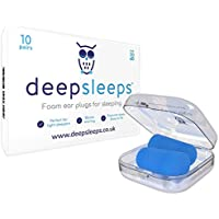 The Best Foam Ear Plugs for Sleeping by Deep Sleeps - 10 Pairs - Expand Slowly for Easy Fitting