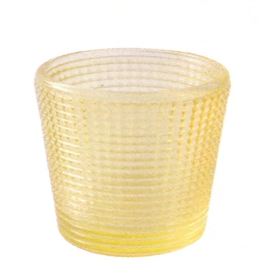 ライトニング麦芽通信網キャンドルグラス グレイン イエロー
