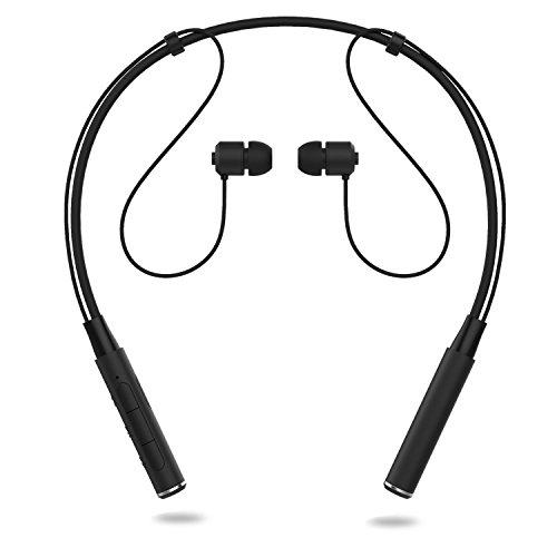 Bluetooth イヤホン X-LIVE スポーツヘッドホン ネックバンド型 ブルートゥース イヤホン カナル ワイヤレスヘッドセット CVC6.0 ノイズキャンセリング マグネット機能 高音質 ハンズフリー 通話 マイク 外れにくい (ブラック)