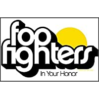 """FOO FIGHTER Honor on Clear, Officially Licensed Original Artwork, High Quality, 4"""" Die-Cut Vinyl Sticker DECAL"""