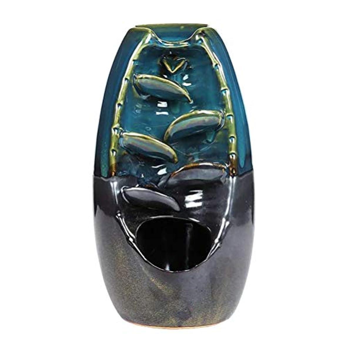 見込み思慮のない公園Vosarea 逆流香バーナー滝香ホルダーアロマ飾り仏教用品(青)