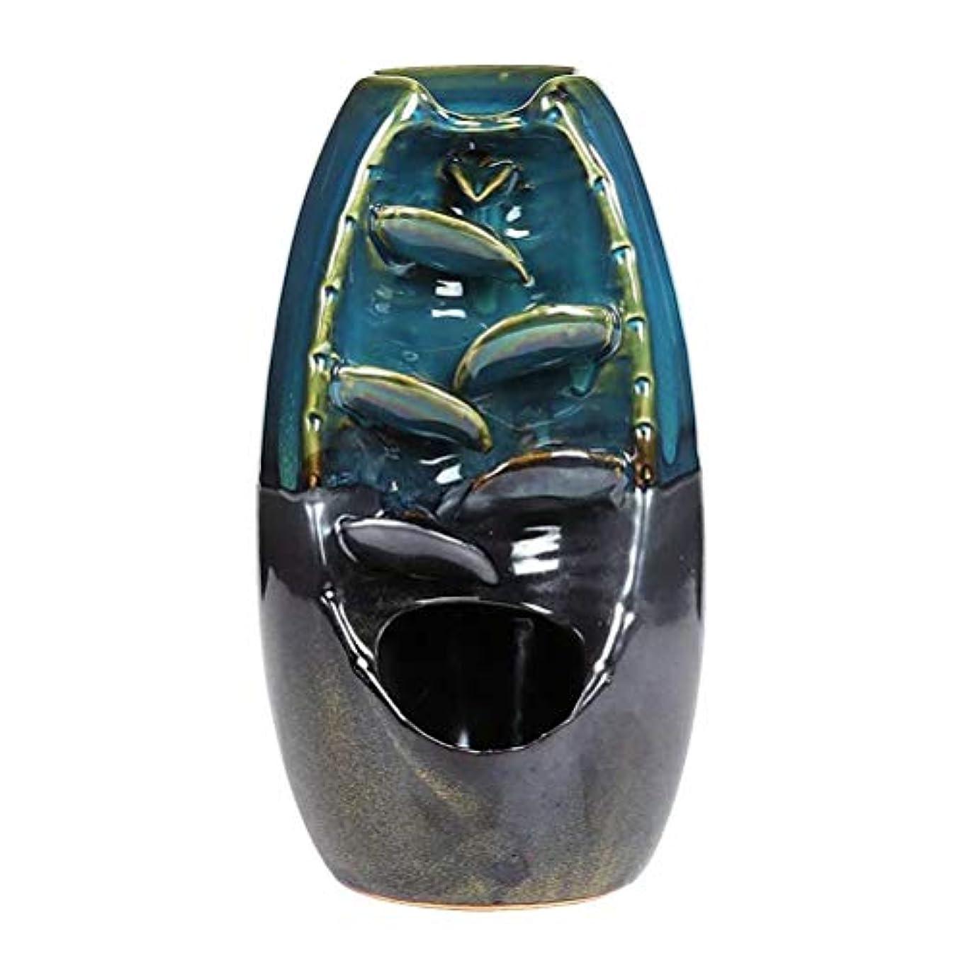 哲学博士からに変化する請うVosarea 逆流香バーナー滝香ホルダーアロマ飾り仏教用品(青)