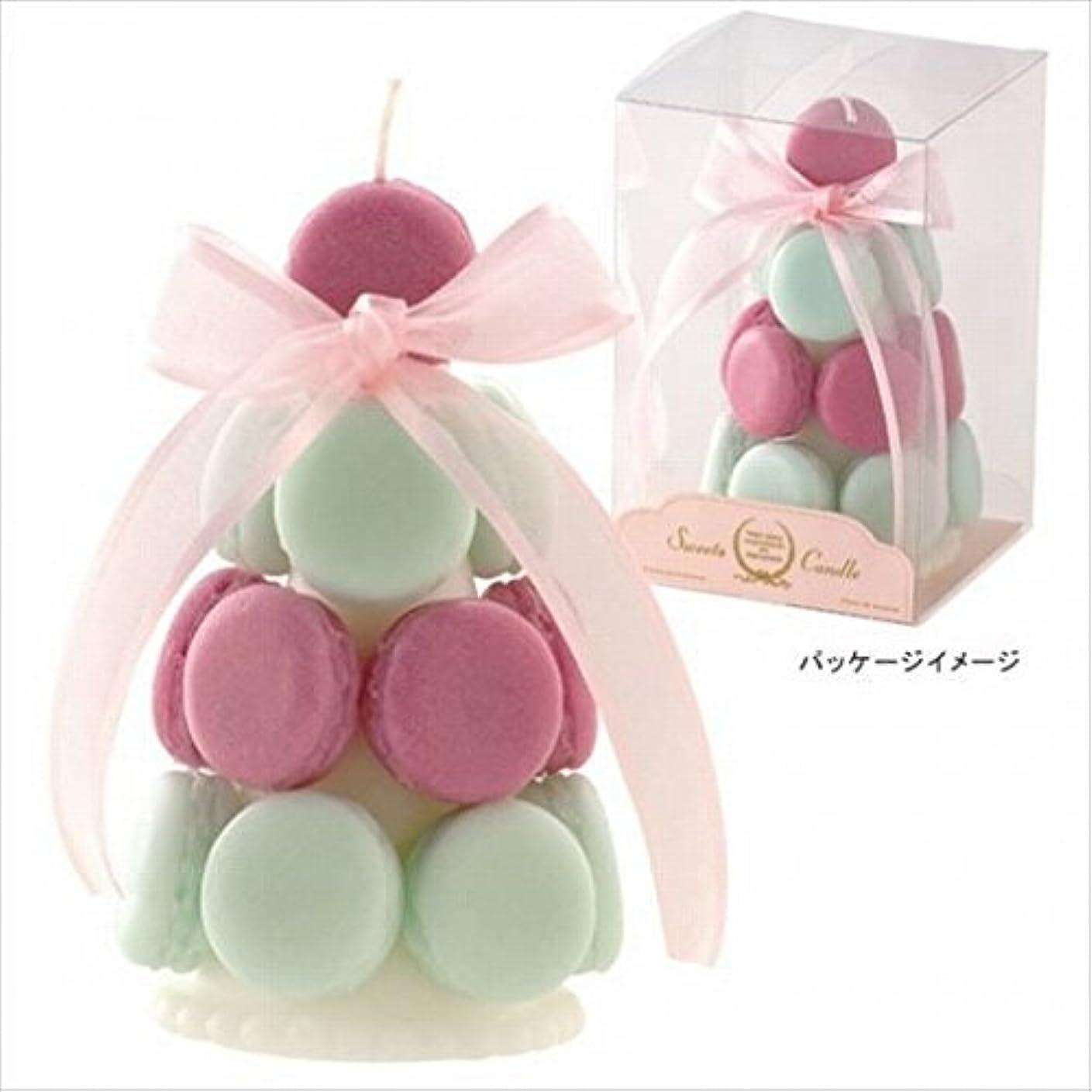 活気づける利点王室カメヤマキャンドル( kameyama candle ) ハッピーマカロンタワー 「 メロングリーン 」