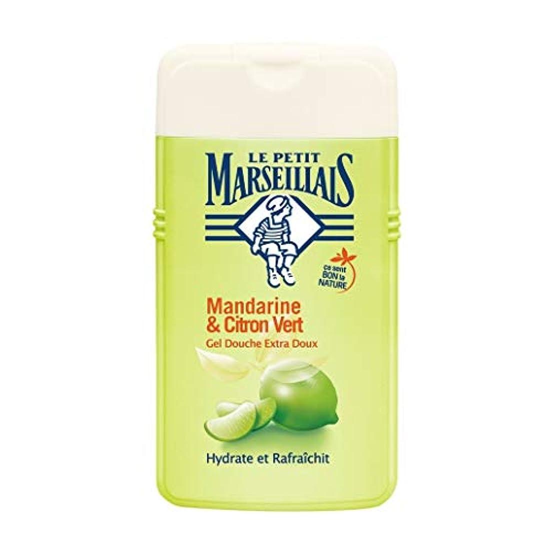 タール知る仲介者ル プティ マルセイユ Le Petit Marseillais シャワージェル/ボディソープ (マンダリンオレンジ と ライム, 250 ml)
