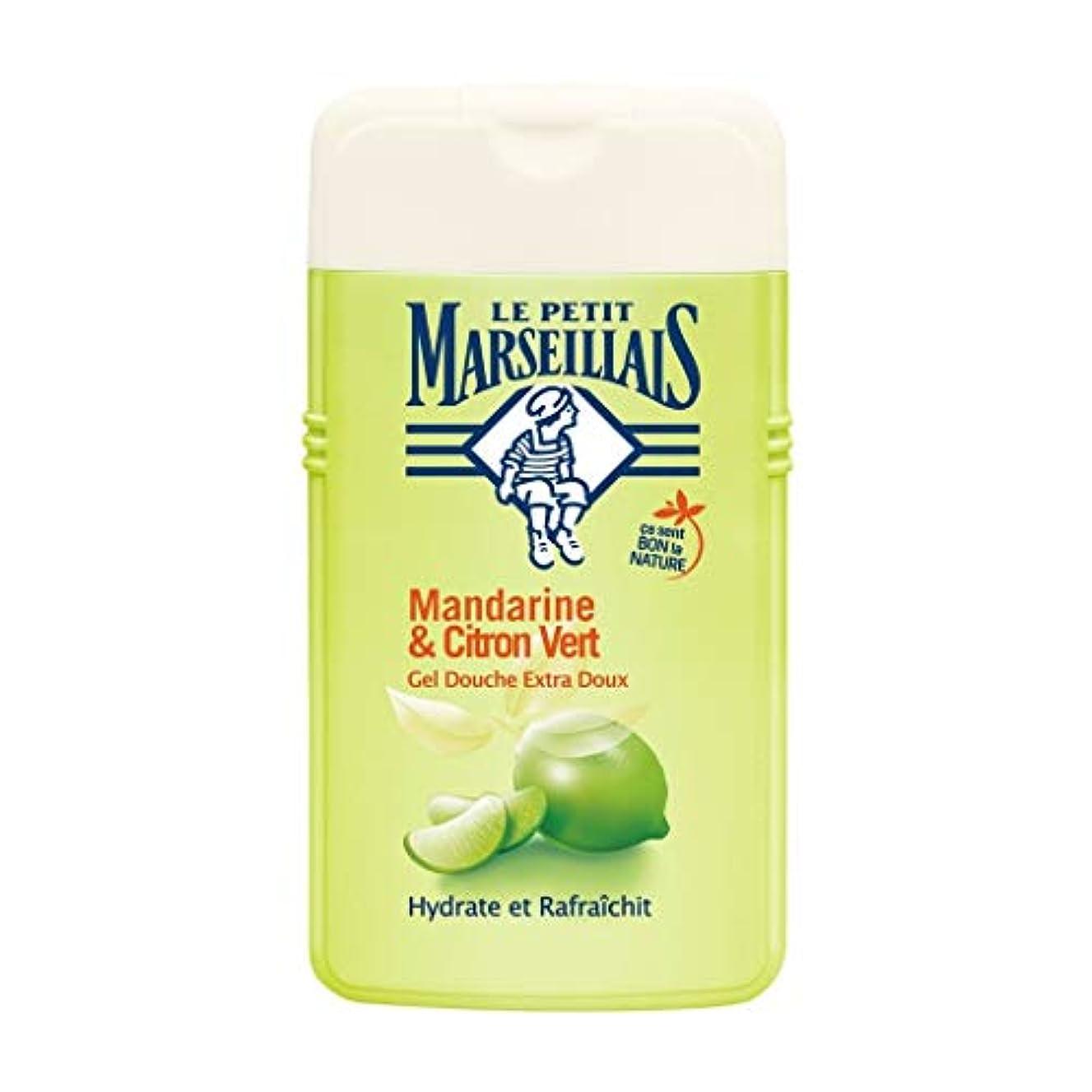 粘着性バリア被るル プティ マルセイユ Le Petit Marseillais シャワージェル/ボディソープ (マンダリンオレンジ と ライム, 250 ml)