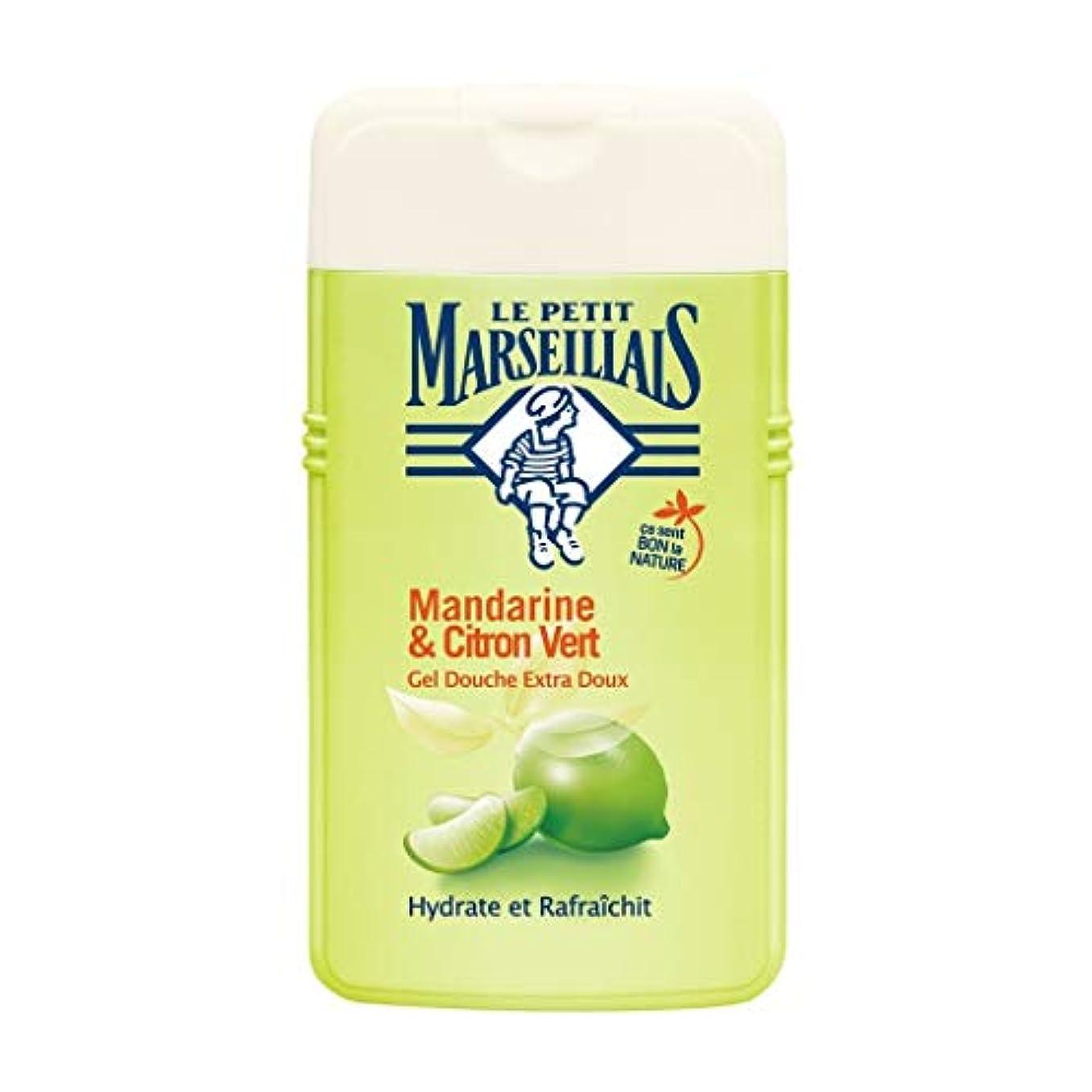 冊子闘争スライスル プティ マルセイユ Le Petit Marseillais シャワージェル/ボディソープ (マンダリンオレンジ と ライム, 250 ml)