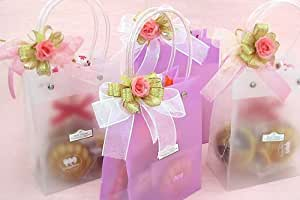 ぷち バッグ (焼き菓子 と クッキー透明カラーの バッグ型 プチギフト )