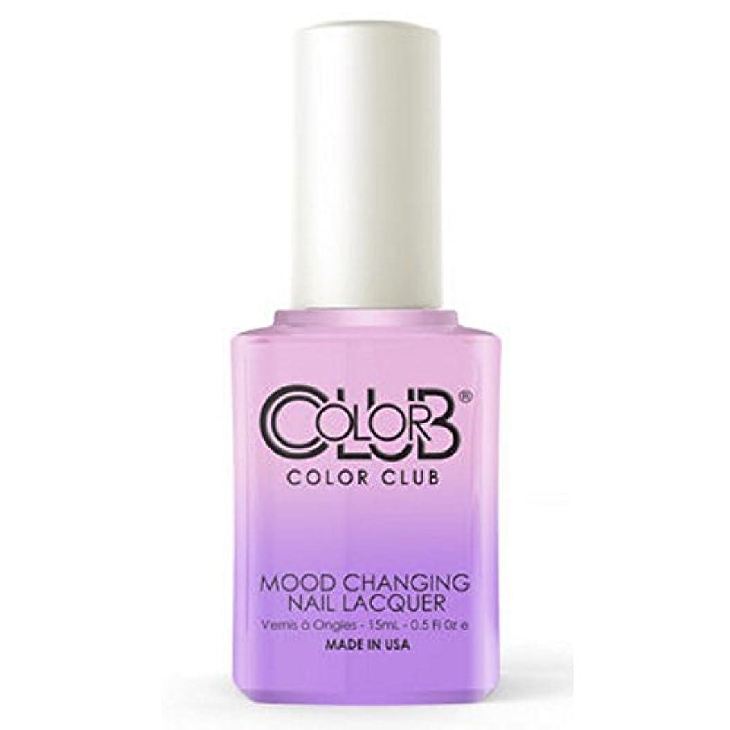 オークション名目上のリンスColor Club Mood Changing Nail Lacquer - Go with the Flow- 15 mL / 0.5 fl oz