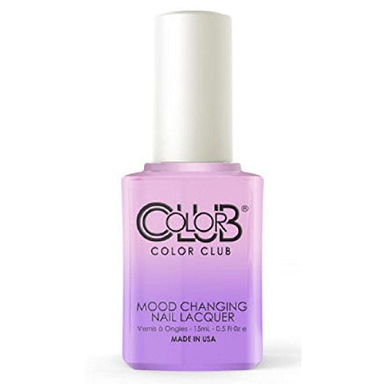 ナイトスポットにの頭の上Color Club Mood Changing Nail Lacquer - Go with the Flow- 15 mL / 0.5 fl oz