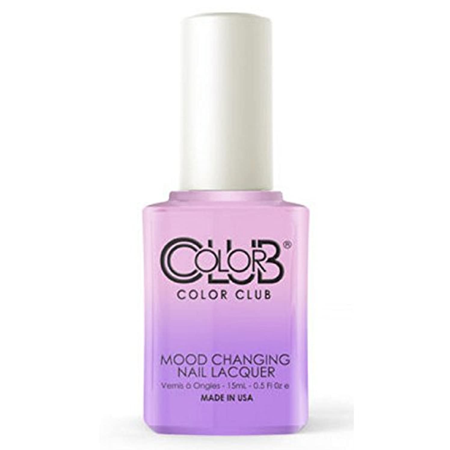一掃する急いで小麦Color Club Mood Changing Nail Lacquer - Go with the Flow- 15 mL / 0.5 fl oz