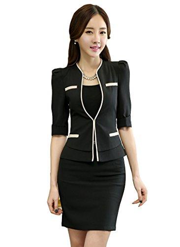"""[해외]""""ReiRei""""여성 비즈니스 정장 세트 정장 통근 사무 복장 OL 스커트 정장 슬림 빨 통근 사무 의류 정장 일 着?せ 새로운/""""ReiRei"""" Women`s Business Suits Set Formal Commuter Clothing OL Skirts Suit Slim Washable Commuter C..."""