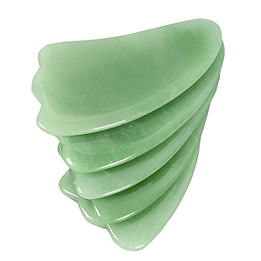率直な間違いなくポルティコ(イスイ) YISHUI天然緑アベンチュリン かっさプレート カッサリフトプレート カッサボード カッサマッサージ道具 W3421