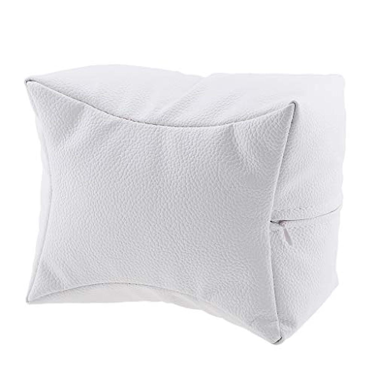 シロクマ気質湾P Prettyia ネイルハンドピロー プロ ネイルサロン 手枕 レストピロー ネイルケア 4色選べ - 白