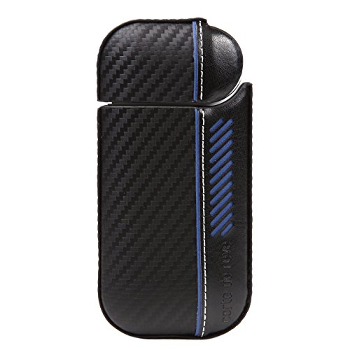 8d41db6e1d iQOS アイコス カーボン レザー ハード ケース 新型 iQOS 2.4 Plus 対応 フルカバータイプ 360°