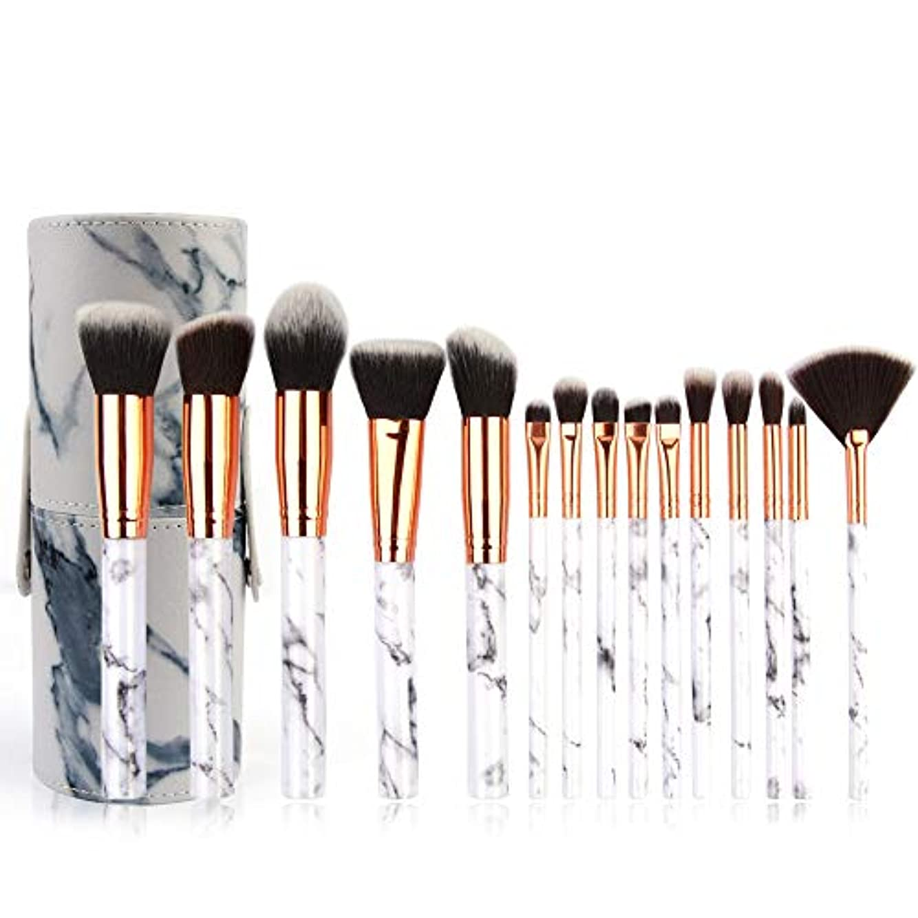 かみそり囚人コックAkane 15本 MAANGE 大理石紋 超気質的 優雅 多機能 高級 綺麗 魅力 柔らかい 上等な使用感 たっぷり 激安 日常 仕事 おしゃれ 簡単使い Makeup Brush メイクアップブラシ (3タイプ) MAG5690...