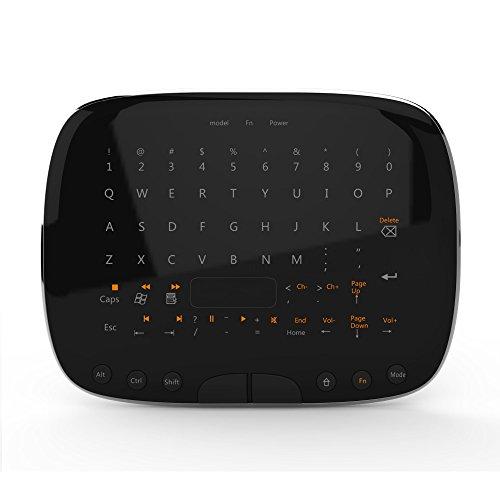 Visenta(ビセンタ) 2.4G ワイヤレス タッチパッド リモコン ミニハンドヘルド グーグルスマートTVボックス用 キーボード&マウス搭載 MOV9 ブラック