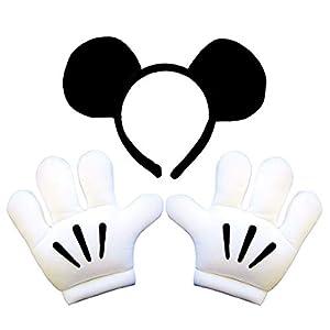 ディズニー ミッキー ヘッドバンド グローブセット コスチューム用小物 男女共用 手袋サイズ:高さ24×幅23×奥行5(cm)