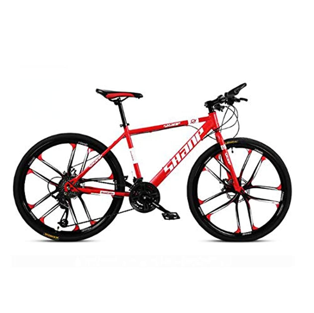 アジテーション重荷脇に61.5インチのマウンテンバイク21スピード/ 24速度/ 27速度/ 30スピードマウンテンバイク24インチホイール自転車、ブラック、ホワイト、レッド、イエロー、グリーン,C3,27